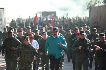 Venezuelas Präsident Maduro besuchte am Wochenende ein Militärmanöver im Bundesstaat Carabobo