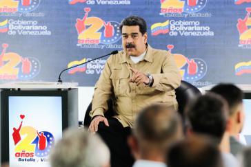 Präsident Nicolás Maduro kritisierte erneut die Einmischung zahlreicher Länder in die inneren Angelegenheiten Venezuelas