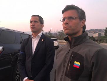 Flucht in Botschaft von Spanien: Oppositionspolitiker Guaidó, López