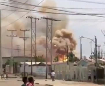 Explosion im Umspannwerk in Zulia, Venezuela (Screenshot)