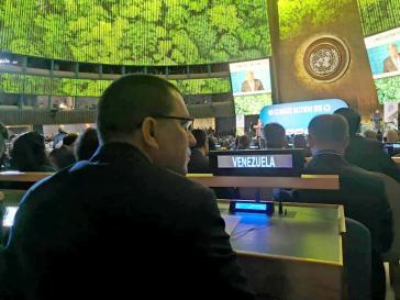 Venezuelas Außenminister Arreaza bei der Eröffnung des UN-Klimagipfels durch Generalsekretär Guterres am Montag