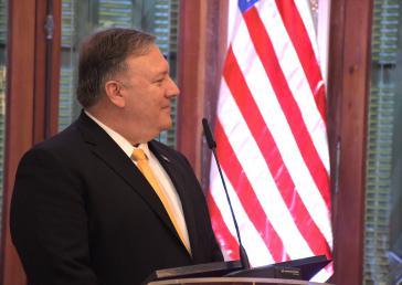Neue Drohungen gegen Venezuela:  US-Außenminister Mike Pompeo, hier bei einem Besuch in Paraguay