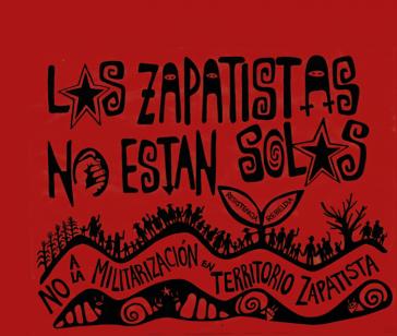"""""""Die Zapatisten sind nicht allein"""" Auch international erfahren die Indigenen viel Solidarität gegen die Militarisierung"""