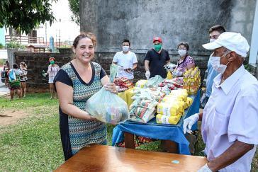 """Zur Bekämpfung der """"Hungerpandemie"""" hat die MST mehr als 600 Tonnen Nahrungsmittel verteilt"""