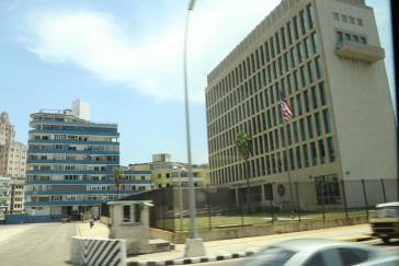Die US-Botschaft in Kuba, auf die Schallangriffe verübt worden sein sollen