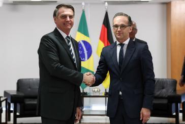 Brasiliens rechter Präsident, Jair Bolsonaro, und der deutsche Außenminister, Heiko Maas, im April 2019. Damals wie heute sind Menschenrechte kein Thema
