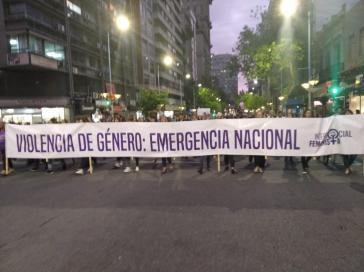 "Das Kollektiv ""Intersocial Feminista"" forderte bereits im September die Ausrufung des Notstands  - und ist nun enttäuscht wegen der angekündigten Maßnahmen"