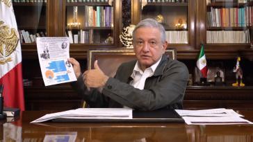 Der mexikanische Präsident in seiner Videoansprache