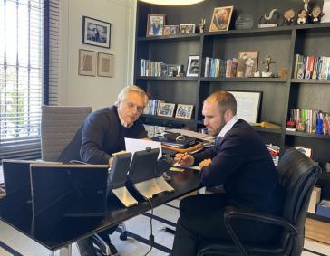 Präsident Fernández (links) und Wirtschaftsminister Guzmán brüteten zuletzt über dem finalen Angebot von Argentinien an die Gläubiger