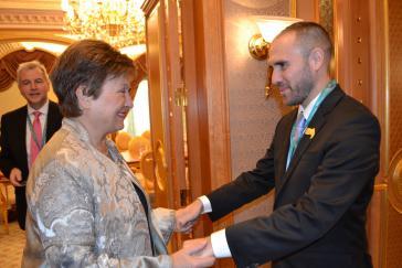 IWF-Direktorin Kristalina Georgieva und Argtentiniens Wirtschaftrsminister Martín Guzmán