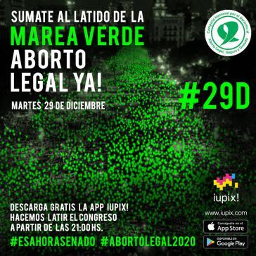 Die Bewegung für die Legalisierung der Abtreibung hat für den 29. Dezember landesweit zu Kundgebungen aufgerufen