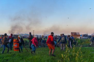 Viele Anwohner wehrten sich gegen die Räumung