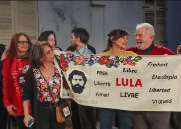Im Pariser Theater Théâtre du Soleil wurde Lula da Silva am 3. März 2020 mit dem Festival Lula Livre geehrt