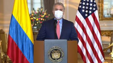 """Am Montag präsentierte Präsident Iván Duque die US-Initiative """"Colombia Crece"""""""