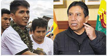 David Choquehuanca (rechts) soll Präsident werden, Andrónico Rodríguez sein Vize
