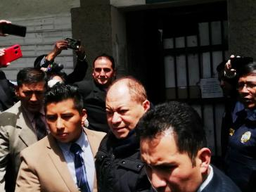 Der frühere Innenminister der Regierung Morales, Carlos Romero, wurde am Dienstag der Staatsanwaltschaft vorgeführt