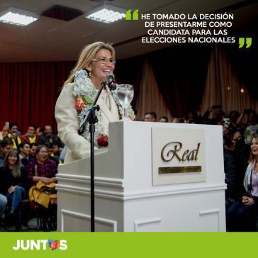 Will nun doch zur Präsidentin gewählt werden: Jeanine Áñez