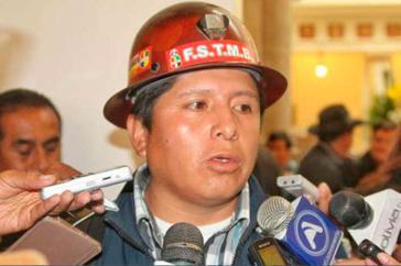 Juan Carlos Huarachi, Vorsitzender des Gewerkschaftsverbandes COB in Bolivien