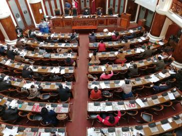 Abgeordnetenhauses und Senat in Bolivien stimmten mehrheitlich für Wahlen innerhalb der nächsten 90 Tage