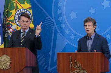 """""""Perfekte Übereinstimmung"""": Präsident Bolsonaro und der neue Gesundheitsminister Teich"""