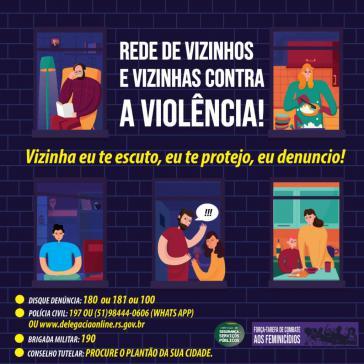 """""""Nachbarschaftliches Netzwerk gegen Gewalt: Meine Nachbarin, ich höre dir zu, ich beschütze dich, ich zeige an!"""""""