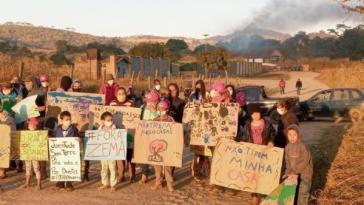 Protest von Landlosen nach Räumung in Brasilien