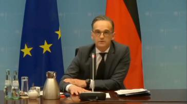 Der deutsche Außenminister Heiko Maas bei der virtuellen Geberkonferenz zur Flüchtlingskrise in der Region um Venezuela