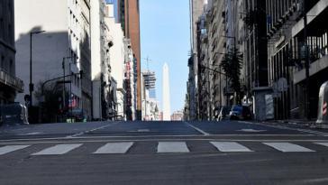 Menschenleere Straßen auch in Buenos Aires