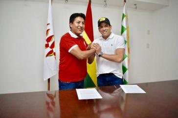 Luis Camacho und Marco Pumari haben sich darauf geeinigt, für die Ultrarechte gemeinsam bei den Präsidentschaftswahlen anzutreten