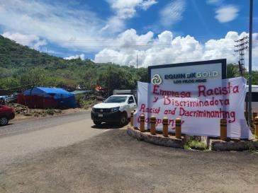 Der bestreikte Zugang zur Mine Los Finos
