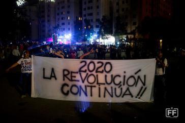 """Vorsatz und Gewissheit für das neue Jahr in Chile: """"2020 - Die Revolution geht weiter"""""""