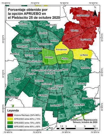 Im Großraum Santiago stellen sich nur die Viertel der Reichen gegen eine neue Verfassung