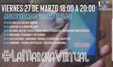 Aufruf zum virtuellen Protestmarsch in sozialen Netzwerken (Screenshot)
