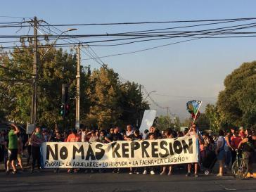 Landesweit protestierten Menschen in Chile nach dem Tod von Jorge Mora Herrera gegen die Repression