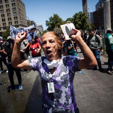 Die Proteste halten trotz Corona-Pandemie an: Demonstration am 20. März gegen eine Regierung, die nur Reiche schützt