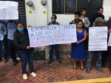 Mitstreiter der Verhafteten fordern deren Freilassung