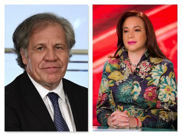 Luis Almagro (links) wird für den obersten Posten bei der OAS von María Fernanda Espinosa herausgefordert