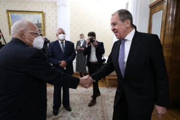 Vizepremierminister Cabrisas und der russische Außenminister Lawrow am Montag in Moskau