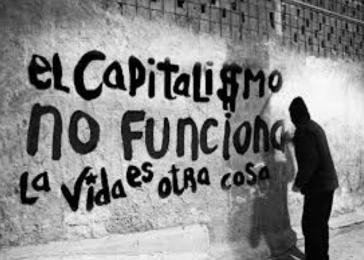 Grafito in Chile: Der Kapitalismus funktioniert nicht. Das Leben ist etwas anderes