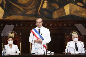 Präsident Abinader bei seiner Antrittsrede