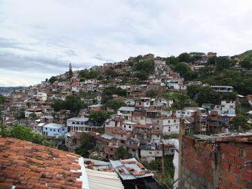 Siloé, ein Armenviertel in Cali, Kolumbien: Während die Zustimmung für Präsident Duque steigt, nimmt hier die Armut zu