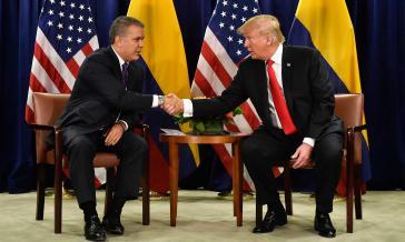 Laut Ex-Präsident Juan Manuel Santos soll ein hoher Beamter der Regierung Duque dem Wahlkampfteam von Trump Hilfe angeboten haben