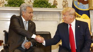 """Moreno zu Trump: """"Uns einen Schlüsselthemen: Menschenrechte, Freiheit, Demokratie und Kampf gegen Korruption"""""""