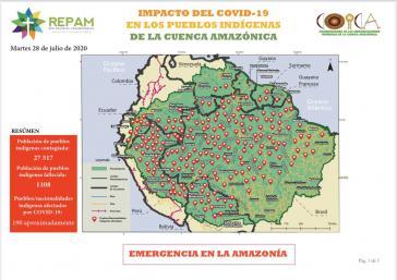 Circa 190 indigene Völker in den neun Anrainerstaaten des Amazonas-Gebiets sind von der Pandemie betroffen