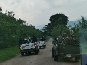 Am 8. Oktober fuhren mehrere Patrouillen mit bewaffneten Angehörigen der nationalen Polizei und der Armee in die Gemeinde Guapinol