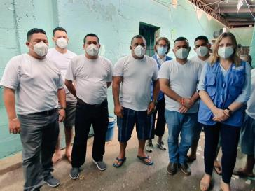 Isabel Albaladejo, Repräsentantin des UN-Büros des Hochkommissars für Menschenrechte in Honduras, besuchte am 15. Oktober sieben der inhaftierten Umweltschützer von Guapinol im Gefängnis in Olanchito