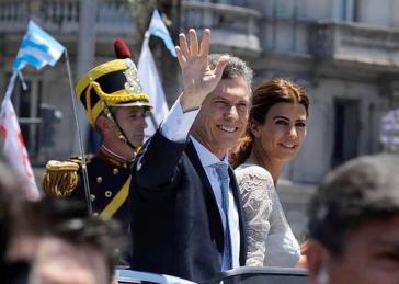 Meldet sich mit einiger Polemik in Argentinien zurück: Ex-Präsident Mauricio Macri, hier mit seiner Ehefrau während seiner Präsidentschaft