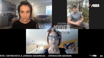 V.l.n.r: Die Journalistin Patricia Poleo, die Moderatorin von Factores De Poder, und Besitzer der Söldnerfirma Silvercorp, Jordan Goudreau | Screenshot