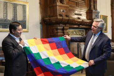 Der argentinische Präsident, Alberto Fernández, mit Luis Arce im Vorfeld der Wahl