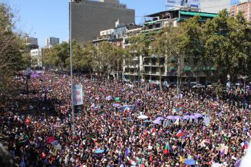 In Santiago de Chile fand am Frauentag 2020 eine der größten Demonstrationen in der Geschichte des Landes statt